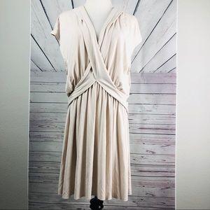 FREE PEOPLE | Vneck cream dress size L